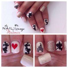 @the_nail_lounge_miramar disney, Mickey Mouse, tinkerbelle, princess castle, gel nail art
