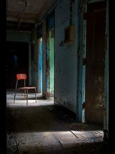 Red Chair - Abandoned Mental Hospital by Melanie Kern-Favilla on 500px