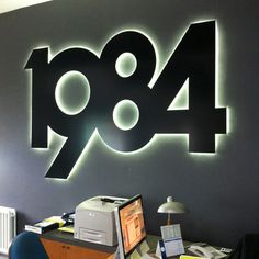 And lettering additional 1 wall logo, logo sign, signage design, wayfinding Office Signage, Wayfinding Signage, Signage Design, Pylon Signage, Office Logo, Metal Signage, Outdoor Signage, Backlit Signs, Led Signs