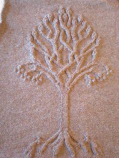 Дерево жизни - отдельный орнамент спицами. Обсуждение на LiveInternet - Российский Сервис Онлайн-Дневников