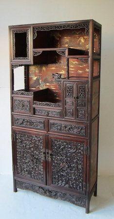 Chinese Hongmu Display Cabinet.
