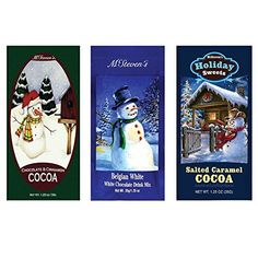Salted Caramel Cocoa, Belgian White Hot Chocolate and Chocolate & Cinnamon Hot Cocoa Set of SIX Single Serve Packets - Best Kosher Certified Gourmet Gift or Stocking Stuffer - http://bestchocolateshop.com/salted-caramel-cocoa-belgian-white-hot-chocolate-and-chocolate-cinnamon-hot-cocoa-set-of-six-single-serve-packets-best-kosher-certified-gourmet-gift-or-stocking-stuffer/