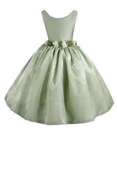 AMJ Dresses Inc Girls Sage Flower Girl Easter Dress Sizes 2 to 12:Amazon:Clothing