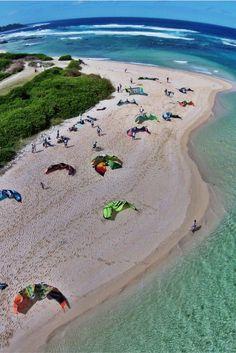 Kiteboarding in Mauritius, Africa