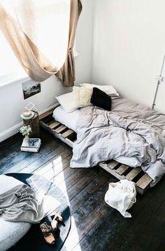 Love that dark floor!