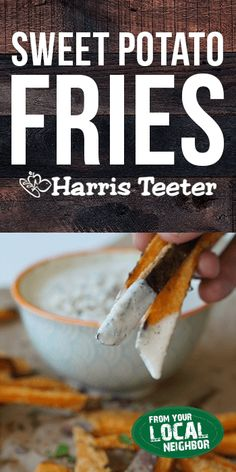 Serve these Crispy Sweet Potato Fries with homemade blue cheese dressing for a winning appetizer this football season. Crispy Sweet Potato, Sweet Potato Slices, Sweet Potato Casserole, Sweet Potato Recipes, Unique Recipes, Organic Recipes, Green Egg Recipes, Acid Reflux Recipes, Potato Sides