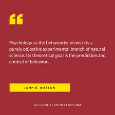 GO HERE --> http://www.all-about-psychology.com/psychology-as-the-behaviorist-views-it.html to read Watson's classic 'Psychology as the Behaviorist Views It' in full for free. #JohnBWatson #psychology