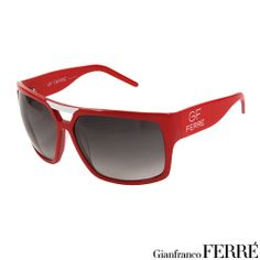 AUTHENTIC GIANFRANCO FERRE MADE IN ITALY STUNNING BRAND NEW RED SUNGLASSES $350.