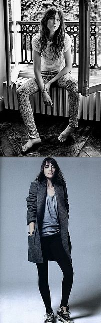 Charlotte Gainsbourg Effortless chic...... Her style is very nice