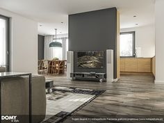 Aksamit 4 projekt domu - Jesteśmy AUTOREM - DOMY w Stylu Interior S, Colonial, House Plans, House Design, Flooring, How To Plan, Furniture, Home Decor, Living Rooms