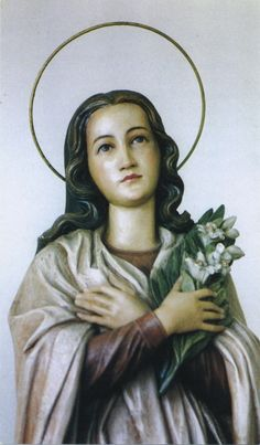 Italian virgin and martyr. Martyr of purity. Statue venerated at the Passionist church in Trepuzzi (Italy). Santa Maria, St Maria Goretti, Religious Pictures, Catholic Saints, Believe In God, Picture Quotes, Mona Lisa, Artwork, Beautiful