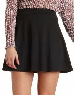 textured skater skirt