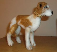 Original Handcrafted Needle Felted Whippet