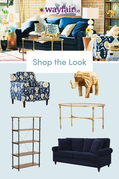 Get inspired with living room, eclectic, blueideas and photos for your home refresh or remodel. Wayfair offers thousands of design ideas for every room in every style. Cozy Living Rooms, Formal Living Rooms, Living Area, Living Room Furniture, Living Room Decor, Living Spaces, Ottoman, Ikea Couch, First Apartment