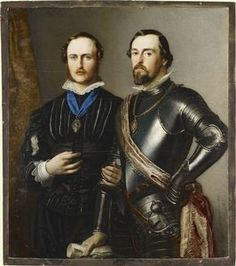 Prince Albert with his brother 1851 Robert Thorburn Painted for Queen Victoria