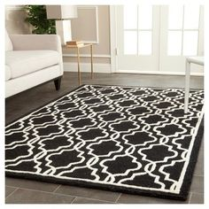 Langley Textured Accent Rug - Black/Ivory (4' X 6') - Safavieh