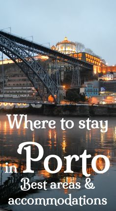 Where to stay in Porto. Best areas and neighbourhoods in Porto city centre. Best boutique hotels, guesthouses and apartments in Porto Porto Portugal, Visit Portugal, Spain And Portugal, Hotels Portugal, Portugal Trip, Portugal Destinations, Portugal Vacation, Portugal Travel Guide, Portugal Holidays