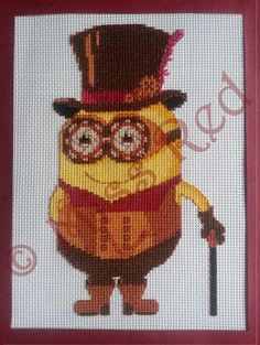 Despicably steampunk counted cross stitch kit, minions, Despicable Me