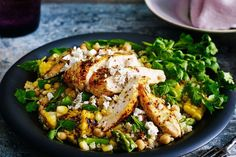Moroccan-style chicken warm salad