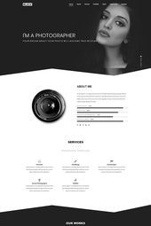 Black Creative One Page Portfolio Landing Page Template - Landing Pages - Create a landing pages with drag and drop. Easily make your landing page in 3 minutes. - Black Creative One Page Portfolio Landing Page Template Webdesign Portfolio, Webdesign Layouts, One Page Portfolio, Portfolio Website Design, Site Web Design, Website Design Layout, Landing Page Inspiration, Website Design Inspiration, Pag Web