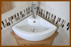 Small Corner Bathroom Sink Details About Ceramic Corner Sink Bathroom, Master Bathroom, Bathroom Ideas, Small Corner, Tiny House, Bathtub, Small Bathrooms, Design, Home Decor