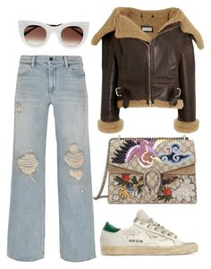"""""""Taking Hits"""" by neon-fox ❤ liked on Polyvore featuring Alexander Wang, Balenciaga, Gucci, Thierry Lasry, Golden Goose, Winter, winterfashion, winteroutfit, winterstyle and Winter2016"""