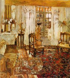 """Interior, Woman Before a Window"" Edouard Vuillard"