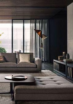Curtains, sofa, walls