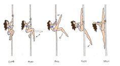 the comic striptease - Pole Splits