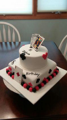 Playing card birthday cake