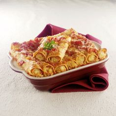 WeightWatchers.fr : recette Weight Watchers - Cannelloni de Mamma Julia