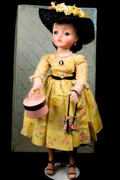 "20"" Madame Alexander Cissy in Yellow Spring Party Dress! Mint with original box!"