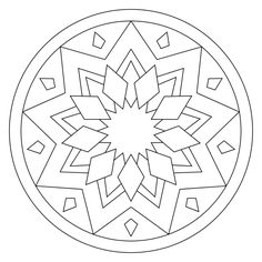 Free printable mandala coloring pages by Jean Becker Coloring Book Art, Cute Coloring Pages, Mandala Coloring Pages, Design Mandala, Motif Design, Mandala Simple, Mandela Patterns, Easy Disney Drawings, Barn Quilt Designs