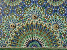 Tile Zellij, Hassan II Mosque, Casablanca