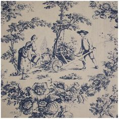 tissu-toile-de-jouy-courtisane-bleu-fond-ecru-x-10cm.jpg (800×800)