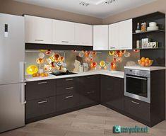 unique glass backsplash panels for modern kitchen, backsplash panel Kitchen Backsplash Panels, Kitchen Splashback Designs, Kitchen Tiles, Kitchen Cabinets, Kitchen Interior, Kitchen Decor, Kitchen Models, Bathroom Design Luxury, Floor Design