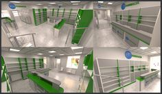 Rethinking the interior space of a pharmacy, increasing the visited area and the visibility using the Ecofarmacia brand's colors. Interior design from sketch to final realization (obtaining authorizations, architectural approvals way up to the construction).