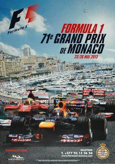 2013 Monaco Grand Prix poster