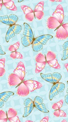 Wall Paper Phone Pink Backgrounds 26 Ideas For 2019 Painting Wallpaper, Flower Wallpaper, Pattern Wallpaper, Wallpaper Backgrounds, Iphone Wallpaper, Pink Painting, Iphone Backgrounds, Blue Butterfly Wallpaper, Paper Butterflies
