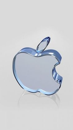 Crystal Apple Logo #iphone #wallpaper