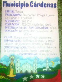 Lámina para exponer sobre el municipio Cárdenas, estado Táchira, Venezuela.
