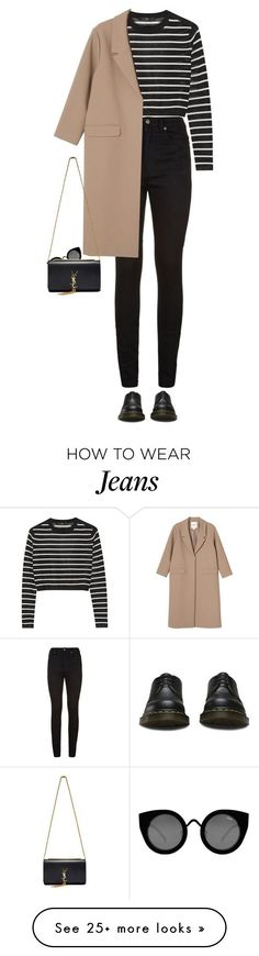 """Senza titolo #630"" by elly3 on Polyvore featuring Yves Saint Laurent, TIBI, Dr. Martens, Quay, Monki, women's clothing, women, female, woman and misses"