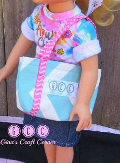 "Gina's Craft Corner: Four EASY SEW Bags for 18"" Dolls"