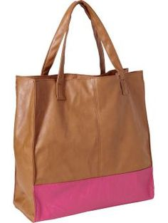 old navy faux leather color block tote only $19