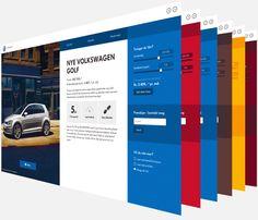 Volkswagen Showroom website by Martin Klausen via Behance  01.10.14