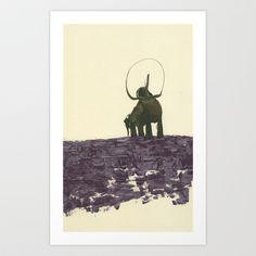 Pachyderm Art Print by Heather Goodwind - $20.00