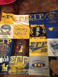 Great idea for old t-shirts! A Sigma quilt