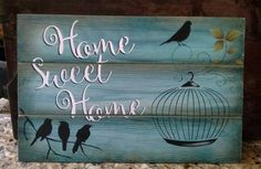 Eliane Artesanato: Placa home Arte Pallet, Pallet Art, Pallet Signs, Decoupage Vintage, Wood Crafts, Fun Crafts, Diy And Crafts, Painted Wood Signs, Wooden Signs