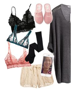 """""""would you show him which bralett you're wearing?"""" by elliewriter ❤ liked on Polyvore featuring Chicnova Fashion, maurices, Eberjey, L'Agent By Agent Provocateur and Kate Spade"""