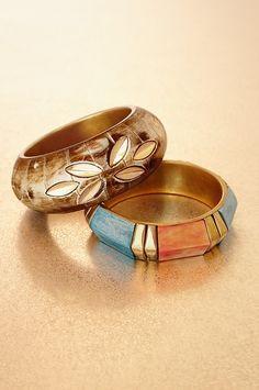 Boho bangle set. #BostonProper #Jewelry